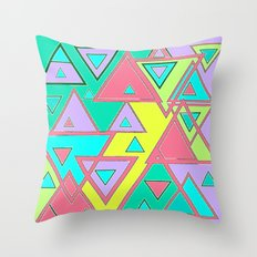 Colorful triangles Throw Pillow