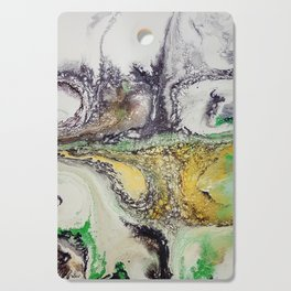 Weather cyclone, acrylic on canvas Cutting Board