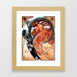 Fire Dance on the Western Front Framed Art Print