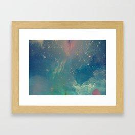 Space fall Framed Art Print