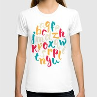lettering T-shirts featuring Lettering ABC by Sudjino