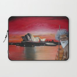 Australia. Landscape. Sidney. Tribe. Orange. Black. Gold. Laptop Sleeve