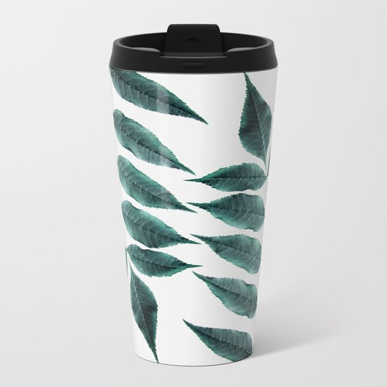 Leaves 3A Metal Travel Mug