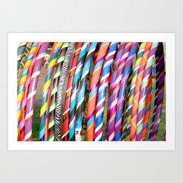 Hula Hoops Art Print