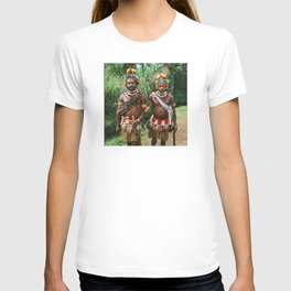Papua New Guinea: Two Countryside Villagers T-shirt