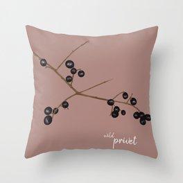 Wild privet Throw Pillow