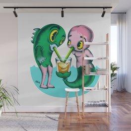 Humans & Fishies Wall Mural