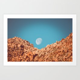 Moon over Anza Borrego Art Print