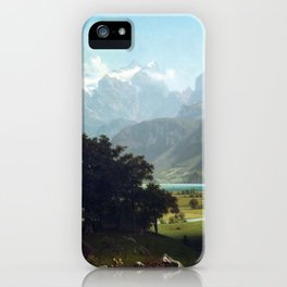 Albert Bierstadt Lake Lucerne iPhone Case