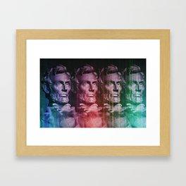 Abraham Lincoln colored Framed Art Print
