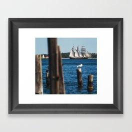 Tall Ship Gulden Leeuw Framed Art Print