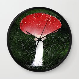 Toadstool Wall Clock