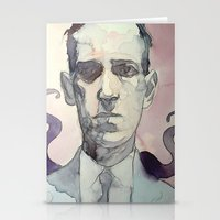 lovecraft Stationery Cards featuring LOVECRAFT by Germania Marquez
