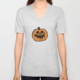 spoopy pumpkin Unisex V-Neck