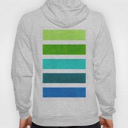 Aqua & Green Geometric Pattern Hoody