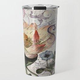 french scripts lotus floral vintage paris eiffel tower Travel Mug