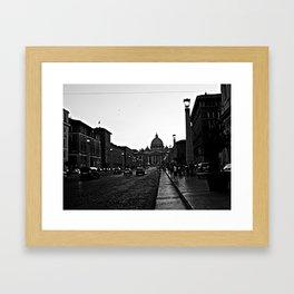 Italian Street B&W Framed Art Print