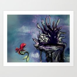 lair of the witch Art Print
