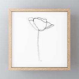 """""""Botanical Collection"""" - Poppy Flower Framed Mini Art Print"""