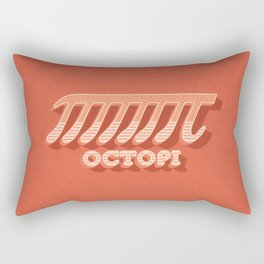 Octopi (PI) / Funny Nerd & Geek Humor (retro style) Rectangular Pillow