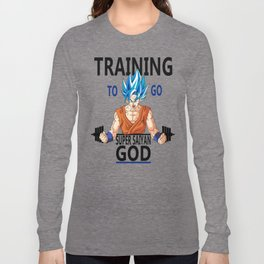 Training to go Super Saiyan God Long Sleeve T-shirt