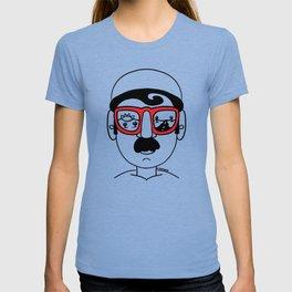 Desert Sunset Dream Views Red Sunglasses Mustache Man T-shirt