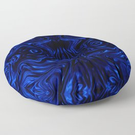 Psychedelic Blue Flow Floor Pillow