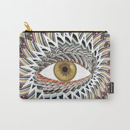 Origami Chakra Eye - Golden Hazel Carry-All Pouch