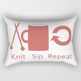Knitting and Coffee Rectangular Pillow