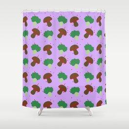 Funghi e Broccoli Shower Curtain