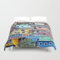 tetris Duvet Covers featuring Venezuelan Tetris by MarcelPages