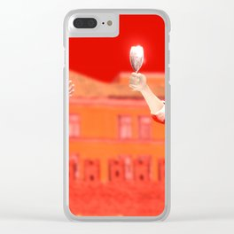 SquaRed: No pain No Gain Clear iPhone Case