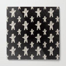 Polar Bear in Winter Snow on Black - Wild Animals - Mix & Match with Simplicity of Life Metal Print