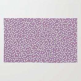 Soft Purple and White Polka Dot Pattern Rug