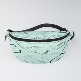 Vintage Medical Themed Pattern Fanny Pack