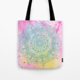 pink splash mandala Tote Bag