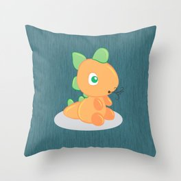 The funny dragon Throw Pillow