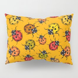 Colorful ladybugs Pillow Sham