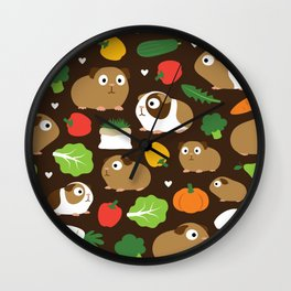 Guinea Pigs And Their Treats Wall Clock