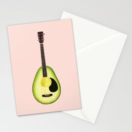 AVOCADO GUITAR Stationery Cards