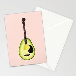AVOCADO GUITAR Stationery Cards