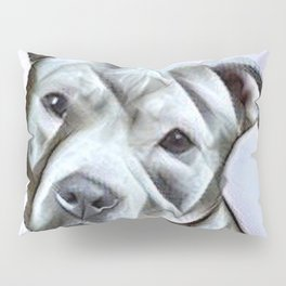 Pit Bull lover, a portrait of a beautiful pit bull puppy Pillow Sham
