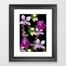 FLOWERED PHOTO DESIGN Framed Art Print