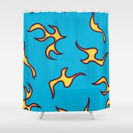 GOLF WANG Flame Pattern Shower Curtain
