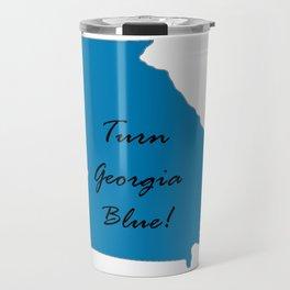 Turn Georgia Blue! Proud Vote Democratic Liberal! 2018 Midterms Travel Mug