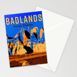 Visit Badlands Retro Postcard Stationery Cards