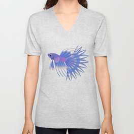 Two crowntail bettas Unisex V-Neck