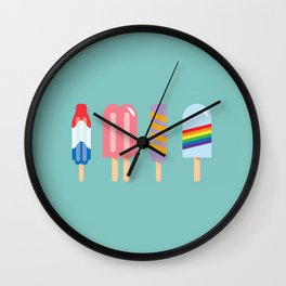 Popsicles - Four Pack Teal #835 Wall Clock