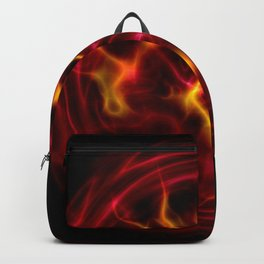 Red plasma flame Backpack