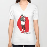 ali gulec V-neck T-shirts featuring Ali by Dayle Kornely